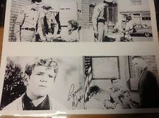 ANDY GRIFFITH aut'd RARE PHOTO Collage RONNIE DAPO of OPIE AND THE SPOILED KID