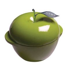 New Lodge L Series E3ap50 Enameled Cast Iron Apple Pot Green 3-Quart Kitchen Bar