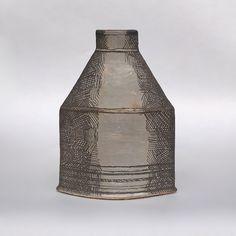"Maggie Williams - Drawn Vessel - ""Churn"" High-fired Stoneware - wide x x 115 high - 2019 Stoneware, Fire, Ceramics, Home Decor, Homemade Home Decor, Ceramic Art, Clay Crafts, Interior Design, Home Interiors"
