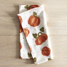 Printed Pumpkins Napkin