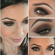 How to Easy smokey eye in brown using few products