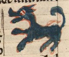 Bibliothèque Nationale de France, lat. 10448, Folio 119r A strange blue onager, the wild ass