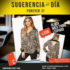 Blusa Wild Thing Leopard Forever 21