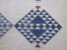 Antique Quilt with blue and white blocks, eBay, 14quilts