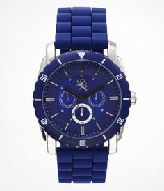 MULTI-FUNCTION SILICONE STRAP WATCH - BLUE at Express