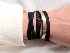 Bracelet cuir #cuir #leather #bijoux #bracelet #elsane #elsaneatelier #madeinfrance #creation #jonc #laiton #brass