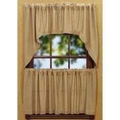 The Burlap Natural Curtain Collection