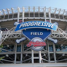 Progressive field Cleveland Indians.  Cannot wait for baseball to start!!  Hope to make it to a game or few!!