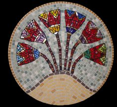 Mosaic mandala. I think this would look great on a lazy Susan