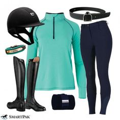 Do you want to do good and look great? This is the perfect way to do just that because it features a top from our EQology line, which uses recycled materials whenever possible. Equestrian Boots, Equestrian Outfits, Equestrian Style, Equestrian Fashion, Horse Fashion, Female Fashion, Riding Hats, Riding Gear, Horse Riding