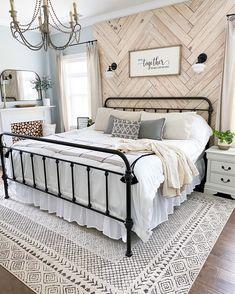 Dream Bedroom, Home Decor Bedroom, Bedroom Ideas, Western Bedroom Decor, Bedroom Wall, Master Bedroom Makeover, Farmhouse Master Bedroom, Farmhouse Bedroom Furniture, Master Room