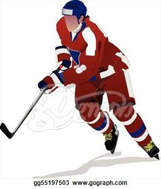 ice hockey player images | Royalty Free Vector of a Blue Ice ...