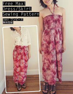 Free-Maxi-Dress-Pattern-2WAY-ワンピース型紙 - from Sew in Love