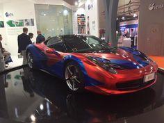 Stunning Wrapped Ferrari 358 at FESPA 2015