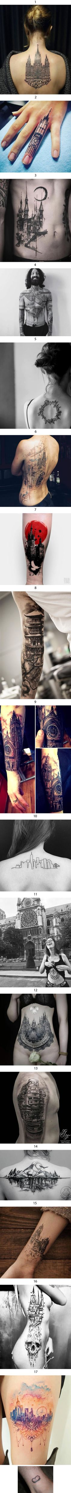 17 Best architectural tattoos that may make you want one