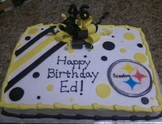 Perfect Pittsburgh Steelers birthday cake