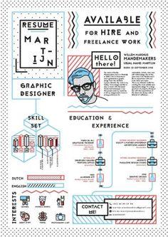 Graphic design resume - 52 infographic resume ideas for examples – Graphic design resume Graphic Design Resume, Resume Design Template, Creative Resume Design, Free Cv Template, Hipster Graphic Design, Infographic Resume Template, Creative Cv Template, Unique Resume, Simple Resume