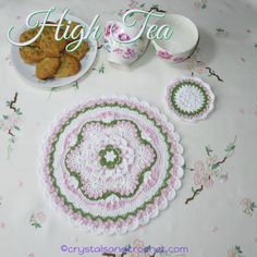 A very fond memory of my Dad, the clown, is that he always called a menu a me' n' u, so what better name for a collection of placemat and coaster sets than Me' n' u. Included in the e-book are three new patterns, Hesperus, High Tea, and Tutti Frutti, and Oh Tannenbaum, which …