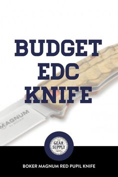Want a budget EDC knife that won't break the bank? Try the Boker Magnum Red Pupil Linerlock Pocket Knife with a Zebrawood handle for your urban everyday carry gear. Take advantage of this money-saving deal on everyday carry premium pocket knives while supplies last! Explore top-rated budget-friendly compact lightweight utility knives and other essential EDC gear at affordable prices from Gear Supply Company. #everydaycarry #edcknives #pocketknives #urbaneverydaycarry Edc Fixed Blade Knife, Edc Knife, What Is Edc, Prepper Supplies, Urban Edc, Everyday Carry Items, Edc Bag, Urban Survival, Pocket Knives
