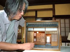 gorgeous miniature Japanese Showa era house