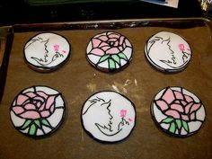 stained glass look cookies