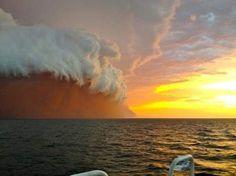 'Tsunami van zand' vastgelegd voor Australische kust