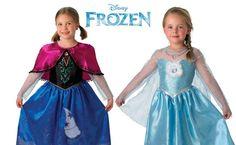 Disfraces Frozen de la película Disney, el disfraz de anna y el de elsa