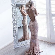 2019 Open Back Sequin Sparkly Mermaid Fashion Sexy Elegant Prom Dresses, Evening party dress, Open Back Prom Dresses, Elegant Prom Dresses, Pink Prom Dresses, Backless Prom Dresses, Mermaid Prom Dresses, Maxi Gowns, Cheap Prom Dresses, Sexy Dresses, Formal Dresses