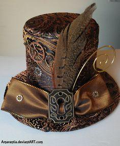 Timeless Steampunk Victorian top hat by mysticarray #steampunk #wedding #