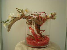 vase bois flotté orchidée   Mes petites Créa   Pinterest
