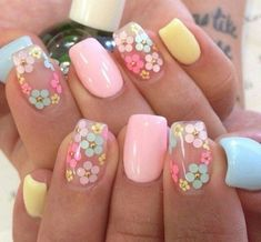 If you are looking for the most popular Easter nail design of then you are in the right place. We have collected dozens of cute Easter nail designs, and you will love it . day makeup Cute Easter Nail Designs You Have to Try This Spring Easter Nail Designs, Easter Nail Art, Flower Nail Designs, Flower Nail Art, Nail Designs Spring, Gel Nail Designs, Nails Design, Pedicure Designs, Spring Design