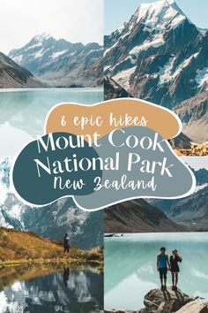 Mount Cook National Park is an adventurer's wonderland! There are incredible hikes to Hooker Valley, Sealy Tarns, Tasman Lake, Mueller Hut, and more!