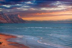 Sunset at Strand beach - Western Cape - South Africa Africa Destinations, Holiday Destinations, The Beautiful Country, Beautiful Places, Best Family Beaches, African Love, Out Of Africa, Travel Planner, Coastal Homes