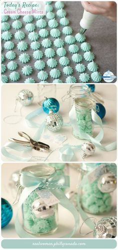 Edible Gift Idea: Cream Cheese Mints by Lindsey Bell of Hot Polka Dot   Just three ingredients!