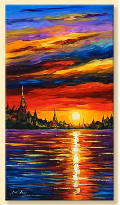 Morning Sky  Limited Edition Colorful Sunset by AfremovArtStudio