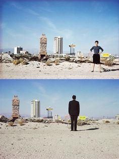 Denise Scott Brown & Robert Venturi in the Las Vegas desert, 1966 Learning from las Vegas