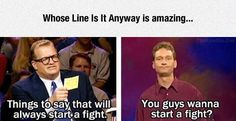 This one is silly but this is one of the best shows. I always laugh so hard at these guys. Especially Ryan Stiles and Wayne Brady!!