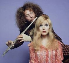 Jethro Tull's Ian Anderson and Madeline Smith, 1979, by Keith Morris.