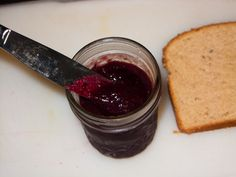Concord grape jam, 1 day later