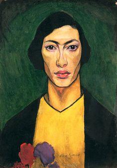 Альтман Н.И. «Автопортрет II» Бумага, темпера. 63x46 см. Государственный Русский музей