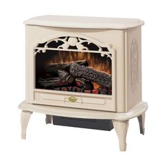 Buy the Dimplex Cream Direct. Shop for the Dimplex Cream Celeste Free-Standing Electric Stove and save. Electric Wood Stove, Electric Stove Fireplace, Electric Fireplaces, Ventless Fireplace Insert, Fireplace Inserts, Stove Heater, Gas Stove, Tiny Wood Stove, Fireplace Stores