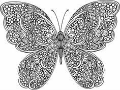 Resultado de imagen para mandala de mariposa para pintar