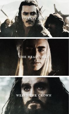 The head that wears the crown #thehobbit