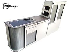 Curved VW T5 furniture flat pack furniture - short van- kitchen - camper - units | eBay