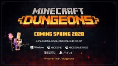 Minecraft Dungeons is a brand-new game from the creators of Minecraft coming to PC, consoles, and Xbox Game Pass in Spring of Fight your way through an. Minecraft Gameplay, Minecraft Videos, Minecraft Mods, Youtube Minecraft, Trailers, Best Spotify Playlists, Video Game Music, Music Videos, Minecraft Construction