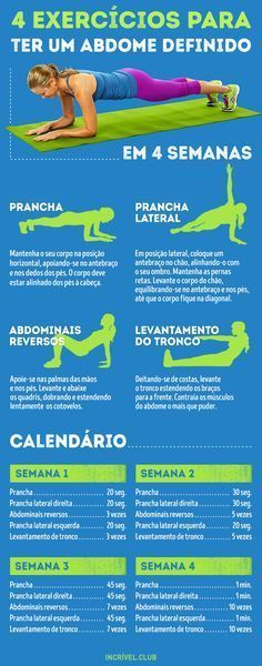 4 exercícios para obter um abdome definido em apenas…