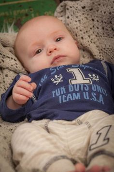 Dirkje babykleding 2 delig setje marineblauw met beige Team USA