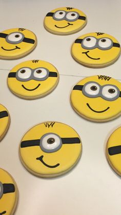 Minion Sugar Cookies Decorated Birthday Party Minion Party Despicable Me by KennedysCookies on Etsy https://www.etsy.com/listing/262643271/minion-sugar-cookies-decorated-birthday