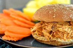 Clean Eating Hawaiian Barbecue Chicken Sandwiches. I think Colten would LOVE these! Shredded meat on a sandwich with roasted potatoes or potato salad as a side and some asparagus.