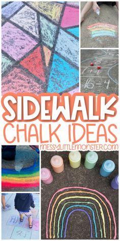 sidewalk chalk ideas Easy Crafts For Kids, Summer Crafts, Toddler Crafts, Summer Fun, Summer Time, Sidewalk Chalk Recipe, Sidewalk Chalk Paint, Chalk Ideas, Preschool Projects